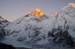 Mt. Everest in the morning